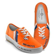 I Love The Denver Broncos Womens Shoes