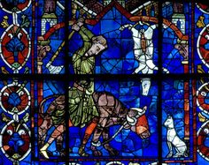 """Chartres Cathedral Stained Glass - Bay 103 Key (The """"Seraph"""" Clerestory Window) Panel 01"""