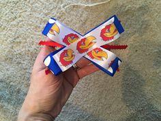 KU Jayhawks Bow by BowTinkHeadbands on Etsy
