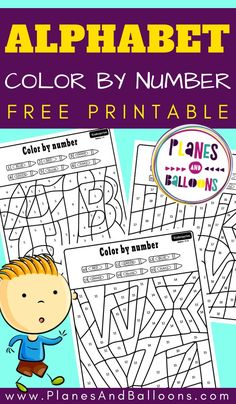 Free printable color by number for kids - math number recognition Learning Numbers Preschool, Kindergarten Math Activities, Letter Activities, Preschool Printables, Activities For Kids, Printable Worksheets, Free Printables, Number Recognition Activities, Letter Recognition