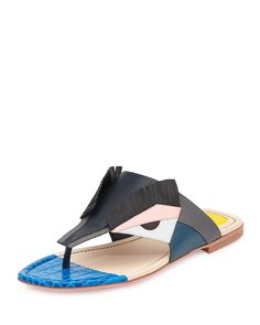 Bugs Leather Monster Sandal, Multi/Blue