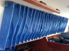 """i almost started a whole new category for the experience of sewing these tricky, little boat curtains called """"fml."""" if ya don't know that acronym, google it. it accurately describ…"""