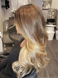 light brown to honey blonde ombre