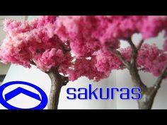 COSICAS NOOB - SAKURA - TUTORIAL ÁRBOLES EN MINIATURA - YouTube Bonsai, Youtube, Nativity Scenes, Diorama, Mac, Architecture, Ideas, Homemade Clay, Polymer Clay