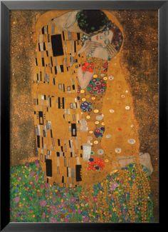 The Kiss, c.1907 Art Print by Gustav Klimt at Art.com
