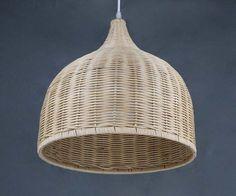 Handwoven From Rattan Basket Pendant Lights,Home living Lighting,Droplamps,Ceiling Lightings,Decor Lighting,Rattan Lampshade Bell-shaped
