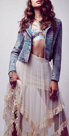 Boho dot skirt