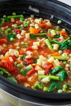 Crock Pot Minestrone | 21 Vegetarian Dump Dinners You Can Make In A Crock Pot
