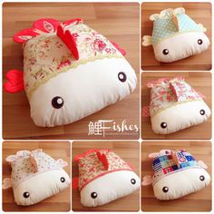 Koi Fishes Pillows by BeaniPet
