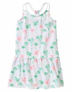 Gymboree Girls Size 6 Spearmint Palm Tree Cotton Dress NWT   #Gymboree #Everyday