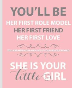 You'll be her first.....