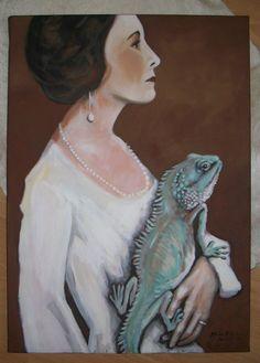 """Kunstverstecke """"Stolz"""" Original Acryl von Marion Ruhrberg / auf meine ART... auf DaWanda.com"""