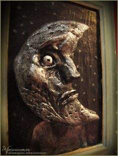 Luna  Moon  OOAK artwork sculpture by Vocisconnesse on etsy