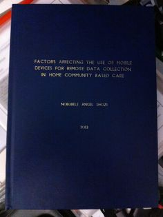 Nelson Mandela Metropolitan University thesis, in navy blue