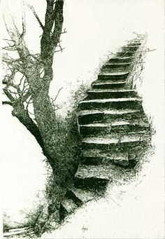 Image search result for kathleen caddick - Marcus Jackson - Pencil Art, Pencil Drawings, Art Drawings, Landscape Drawings, Art Graphique, Stairways, Drawing Sketches, Drawing Ideas, Painting & Drawing