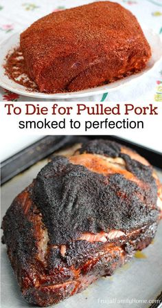 Smoked Pork Shoulder is a delicious summertime BBQ recipe. This tried and true method for Traeger pulled pork is simple to do. It's smoked low and slow. And makes the most moist and tender pulled pork Traeger Recipes, Smoked Meat Recipes, Pulled Pork Recipes, Pulled Pork Sauce Recipe, Smoked Pork Butt Rub Recipe, Traeger Pulled Pork Recipe, Best Bbq Recipes, Dry Rub Recipes, Barbecue