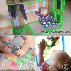 Sensory activities for babies to touch and explore ~ perfect for when you need a few minutes to get something done!