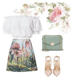 """Untitled #16"" by hieu-nguyen-3 ❤ liked on Polyvore featuring Valentino, ADAM, LoveShackFancy, Jennifer Lopez and Eloquii"
