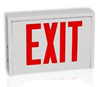 Steel LED Exit Sign with Red Letters http://www.emergencylights.net/steel-led-exit-sign-with-red-letters/