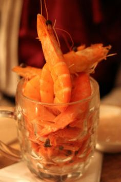 Pint of prawns with bloody marie rose