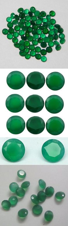 Onyx 10238: Natural Green Onyx Cut Round Cut 1Mm - 15Mm Calibrated Size Green Color Gemstone -> BUY IT NOW ONLY: $112.99 on eBay!