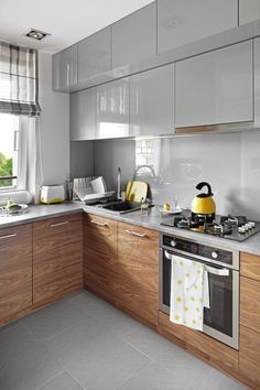 Kitchen Room Design, Interior Design Kitchen, Compact Kitchen, Furniture Makeover, Sweet Home, Kitchen Cabinets, House Design, Inspiration, Kitchens