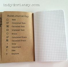 Bullet Journal Traveler's Notebook Insert 3 sizes by Indydori