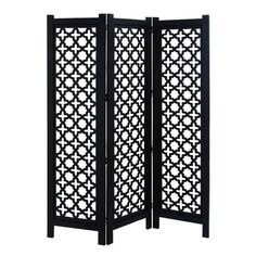 """$290 Woodland Imports 72"""" x 60"""" 3 Panel Wooden Room Divider & Reviews 