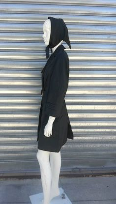742b6de54734 Raincoat with rain cap in cotton made in Italy 1960 size 42 corresponds to  a today's S / M