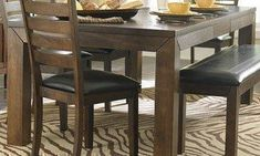 Counter Height Table in Butterfly Leaf of Eagleville Collection by Homelegance # 5346-36 by Homelegance. $563.65. Butterfly Leaf Counter Height Table. Square Table Top Shape. Belongs to Eagleville Collection. Block table legs. Casual Style. What is included:Counter Height Table (1) Your dining area will become a comfortable and exquisite gathering place when you add this durable and stunning Eagleville Collection. The versatile dining height table and counter height tab...