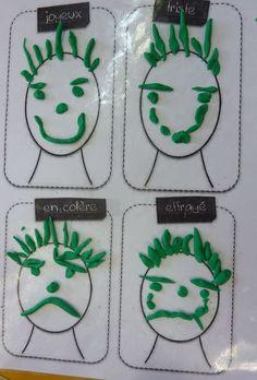 réaliser 4 expressies différentes en pâte à modeler in 2020 Emotions Preschool, Emotions Activities, Educational Activities, Learning Activities, Preschool Activities, Recycled Crafts Kids, Expressions, Preschool Crafts, Kids And Parenting