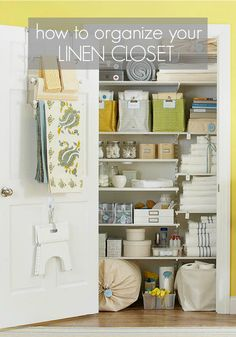 Organizing the Linen Closet - Somewhat Simple