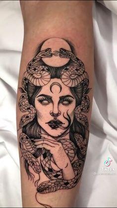 Scary Tattoos, Red Ink Tattoos, Dainty Tattoos, Feminine Tattoos, Large Tattoos, Badass Tattoos, Pretty Tattoos, Unique Tattoos, Body Art Tattoos