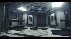 The Retaliator Bomber created for Star Citizen. I worked on some of the interior spaces shown here (entrance room, hygiene area, armory and sleeping quarters). I also worked on some of the common elements such as doors, lifts, docking collars and escape pods. A detailed grey box of the interior was provided by Nathan Dearsley. My task was to take my rooms to final, which involved creating textures/shaders, UV's, custom normals, some modelling, lighting and tech set up. I also worked on the…