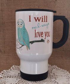 Bagoly türkiz színben Owl, Mugs, Tableware, Dinnerware, Owls, Tumblers, Tablewares, Mug, Dishes