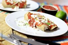 ENCHILADA WITH TURKEY IN CHIPOTLE SAUCE // Enchilada z indykiem w sosie chipotle