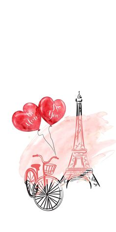 57 Ideas Doodle Art Wallpaper Illustrations For 2019 Paris Wallpaper, Tumblr Wallpaper, Love Wallpaper, Wallpaper Iphone Cute, Cute Wallpapers, Wallpaper Backgrounds, Valentine Wallpaper, Doodle Art, Happy Valentines Day Pictures
