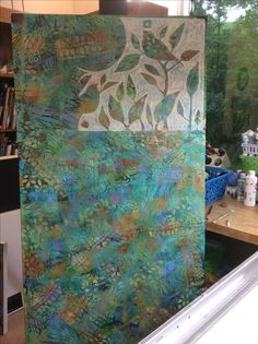 Painting in progress, Sue Davis