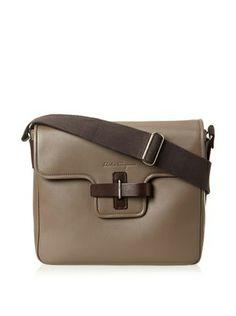 Salvatore Ferragamo Men's Messenger Bag (Taupe)