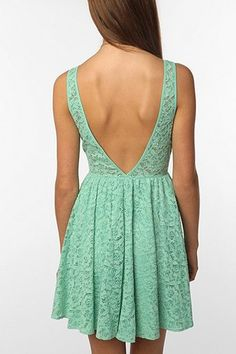 Pins and Needles Pins And Needles Backless Lace Dress
