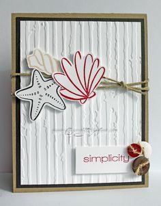 Cuttlebug & Distressed Stripes embossing folder