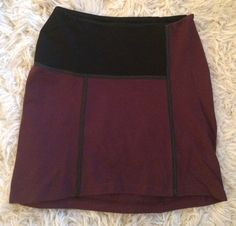 TWENTY Skirt BURGundy /black MEDIUM $158 RETAIL SALE $90.00