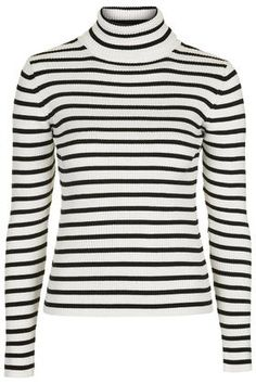 Liquorice Stripe Roll Neck Sweater