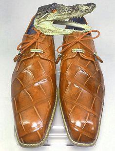 Genuine Alligator Dress Shoes for Men Mens Fashion Shoes, Shoes Men, Fashion Boots, Men's Shoes, Shoe Boots, Men's Fashion, Dress Shoes, Battle Rifle, Gentleman Shoes