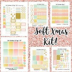 Soft Christmas Kit! | Free Printable Planner Stickers