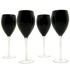With seductive shadowing and captivating silhouettes, our onyx wine glasses are the dark temptation you just can't resist. Featuring slender stems and thin rims, these unique wine glasses are ideal...