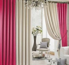 . Curtains And Draperies, Home Curtains, Drapery, Home Interior Design, Interior Decorating, Wall Stickers Home Decor, Curtain Designs, Window Treatments, Cool Furniture