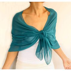 Dark Turquoise Chiffon Shawl Evening Stole Wrap Bridesmaid Solid Green... (46 AUD) ❤ liked on Polyvore featuring accessories, scarves, evening shawl, evening wrap shawl, turquoise scarves, shawl scarves and holiday scarves