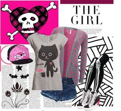 """Avril Lavigne Style"" by alienkaulitz ❤ liked on Polyvore"