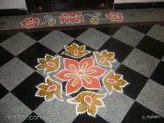Rangoli: Small rangoli for flats Easy Rangoli Designs Diwali, Simple Rangoli Designs Images, Rangoli Designs Latest, Latest Rangoli, Small Rangoli, Diwali Rangoli, Beautiful Rangoli Designs, Simple Designs, Indian Rangoli